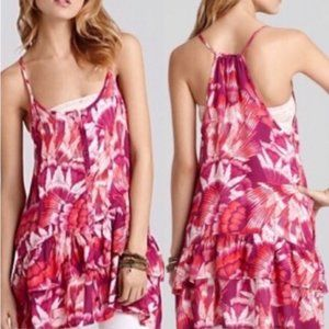 Free People Floral Button Down Ruffle Tunic/Dress